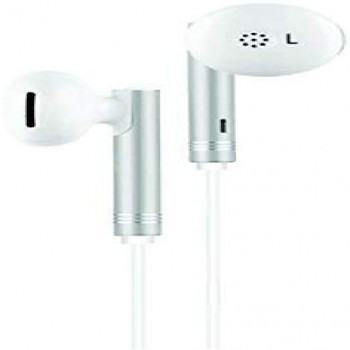 Wired Earphone For Mobile Laptops Tablet 3.5mm Jack With Volume Controls (White)