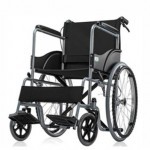 Basic Premium Wheel Chair Powder Coated-Blue