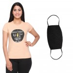 ODEV Women Round Neck Printed T-Shirt