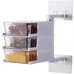 Kitchen Spice Rack Holder Wall-Mounted Plastic  Seasoning Box For Spice Sets