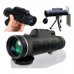 40X60 Focus Zoom HD Adjustable Armoring Travel Monocular Telescope Tourism Scope Binoculars