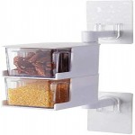 Acrylic Rotatable Kitchen Spice Rack Holder Wall-Mounted Plastic  Seasoning Box For Spice Set