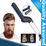 Men Quick Beard Straightener Hair Comb Multifunctional Hair Curler Show Cap Tool