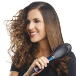 Simply Straight Ceramic Electric Digital Fast Hair Straightener Comb Smooth Brush And Hair Ironer